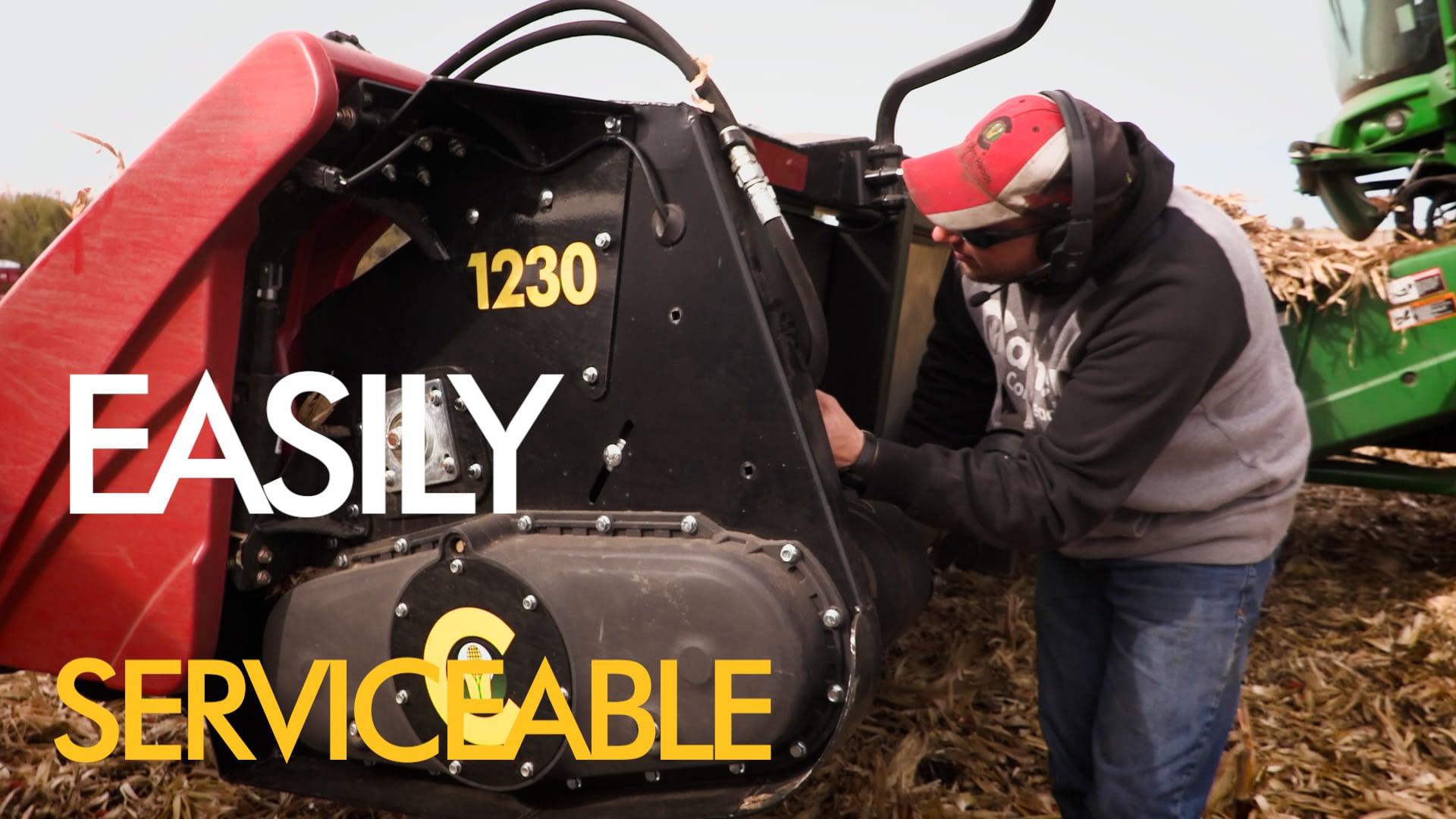 15 inch row size corn head chopping