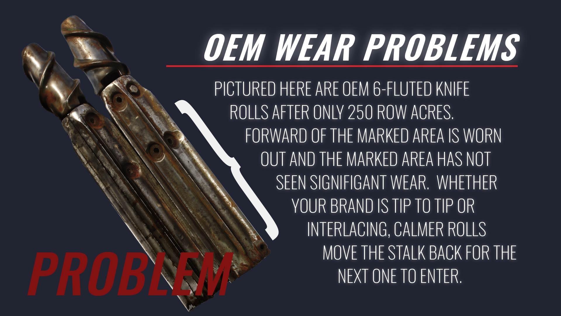 wear problems in OEM stalk rolls